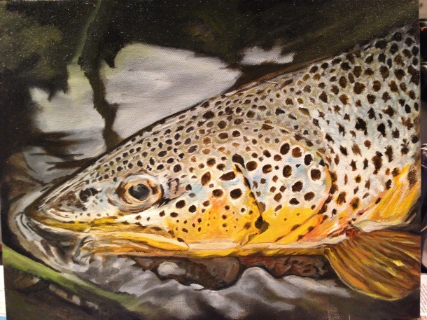 Davison River Brown- Oil on Canvas by Will Kelly