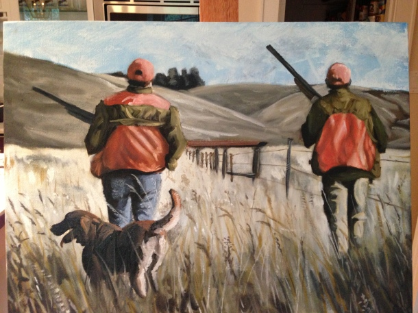 Pheasant March- Oil on Canvas by Will Kelly