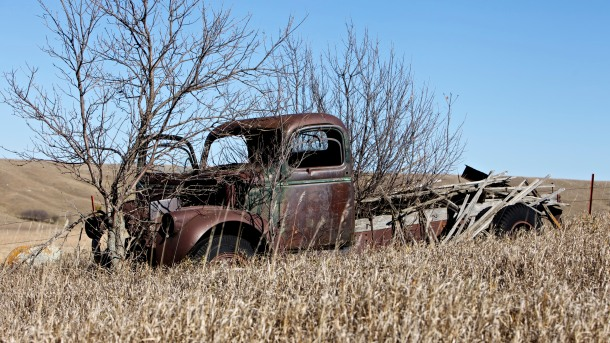 Abandoned Truck in Countryside