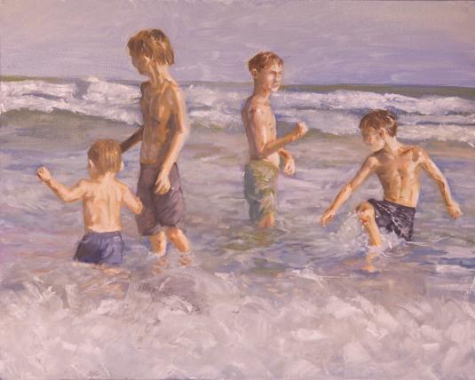 Four Boys in North Carolina Waves